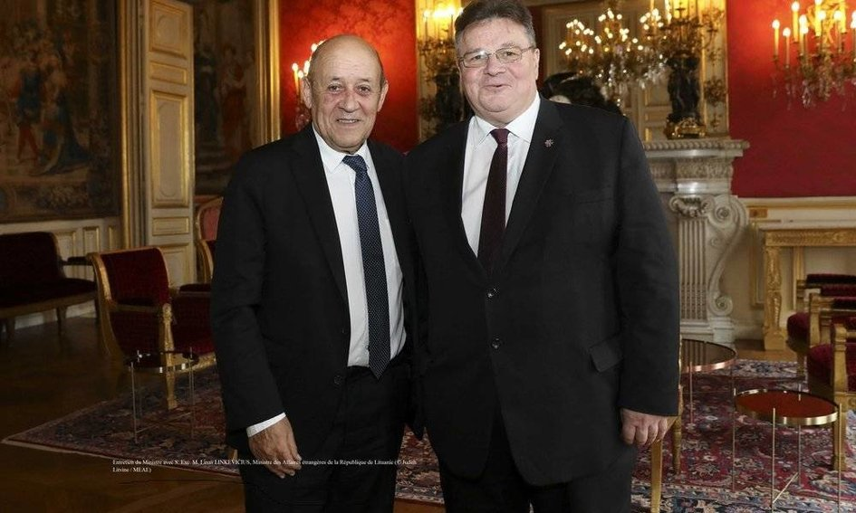 Jean-Yves Le Drian et Linas Linkevicius - JPEG